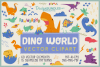 Dino World Vector Cliparts & Seamless Patterns example image 1