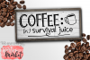 Coffee Survival Juice SVG DXF EPS PNG example image 1
