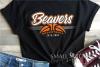 Beaver, Basketball, Sport, Team, Logo, PRINT, CUT, DESIGN example image 1
