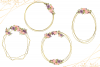 Geometric Gold Frames, Floral Crystal Frames, Pink Frames example image 7