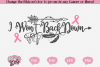 I Won't Back Down - A Cancer SVG example image 1