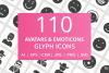 110 Avatars & Emoticons Glyph Icons example image 1