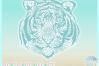 Tiger Mandala Zentangle SVG Dxf Eps Png PDF files for Cricut example image 2