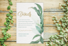 Greenery Wedding Invitation Template Set, Botanical example image 3