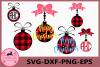 Christmas ball Svg, Buffalo Plaid Svg, Merry Christmas Svg example image 1