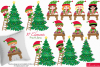 Christmas clipart bundle, Santa clipart, Elf clipart -C42 example image 3