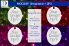 Oval Christmas Ornament Mockup, Bauble Holiday Mock- Up, JPG example image 1
