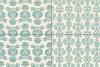 Seamless Blue Damask Patterns example image 4