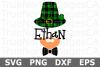 Leprechaun Monogram - St Patricks Day SVG Cut File example image 1