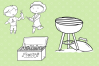 Backyard Cook Out and BBQ Digital Stamps example image 4