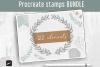 Procreate Stamp Brushes Bundle - 122 elements   Botanical example image 1