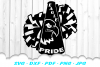 Eagle Pride Cheer Megaphone Poms SVG DXF Cut Files example image 1