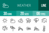 30 Weather Line Icons example image 1