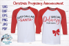 Christmas Pregnancy Announcement | Maternity Shirts SVG example image 1