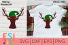 Christmas SVG |Deer Head with Elf Hat example image 1