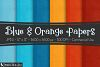 Digital Paper Textured Backgrounds - Blue & Orange example image 1