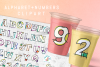 Hand Sketched Alphabet and Numbers 0 to 9 Clipart PNG Files example image 3