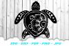 Mandala Sea Turtle SVG DXF Cut Files Bundle example image 3