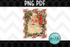 Santa with Leopard Print Fram example image 4