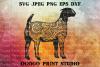 Boer Goat SVG, Zentangle SVG, Animal svg, Mandala svg example image 1