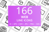 166 Web Line Icons example image 1