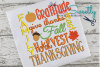 Thanksgiving Subway Word Art Applique Embroidery example image 1