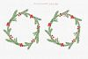 Christmas watercolor collection. Hand drawn illustrations. example image 5