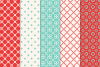 14 Christmas Pixel Seamless Patterns example image 2