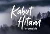 Kabut Hitam - Handwritten Font example image 1