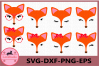 Fox SVG, Animal face svg, Woodland animal, Fox Eyelashes example image 1