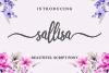 Sallisa - beautiful script font example image 13
