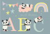 Sweet Dreams Panda, clipart and paper pack example image 3