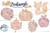 Fall Zentangle SVG Bundle | Fall Mandala SVG Cut Files example image 1