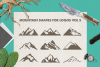 Mountain Shapes Bundle / Mountain Silhouette / Mountain SVG example image 6