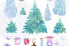 Woodland party. Watercolor Christmas set example image 9
