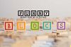 Funny blocks font for building blocks party example image 1