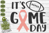 Game Day Ribbon / Breast Cancer Awareness SVG File example image 2