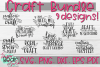 Crafting Bundle 9 Designs! - Craft SVGs example image 1