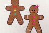 Gingerbread Boy and Girl Applique Embroidery Design Set example image 1