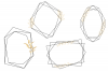 Minimal Geometric Frames, Gold Frames Cliparts example image 3