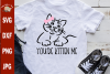 You're Kitten Me Cat With Bow svg, funny girl's cat shirt example image 1