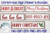 Christmas Sign Maker's SVG Bundle | Wood Sign SVGs example image 1