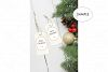 Gift Tag Mockup / Christmas Present Tag Mockup example image 3