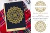 Mandala & split mandala foil quill / sketch single line file example image 1