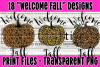 18 PNG Welcome Fall Bundle - Print File example image 4