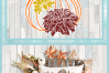 Pumpkin with Leaves and Mums SVG example image 4