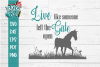 Farmhouse Inspirational Horse SVG DXF Comm example image 2