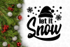 Let It Snow Winter Christmas Svg Design example image 4