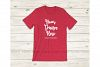 Bella Canvas 3001 Heather Red Tshirt Mockup Flat Lay example image 1