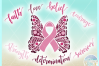 Breast Cancer Ribbon Butterfly Awareness SVG Dxf Eps Png PDF example image 3